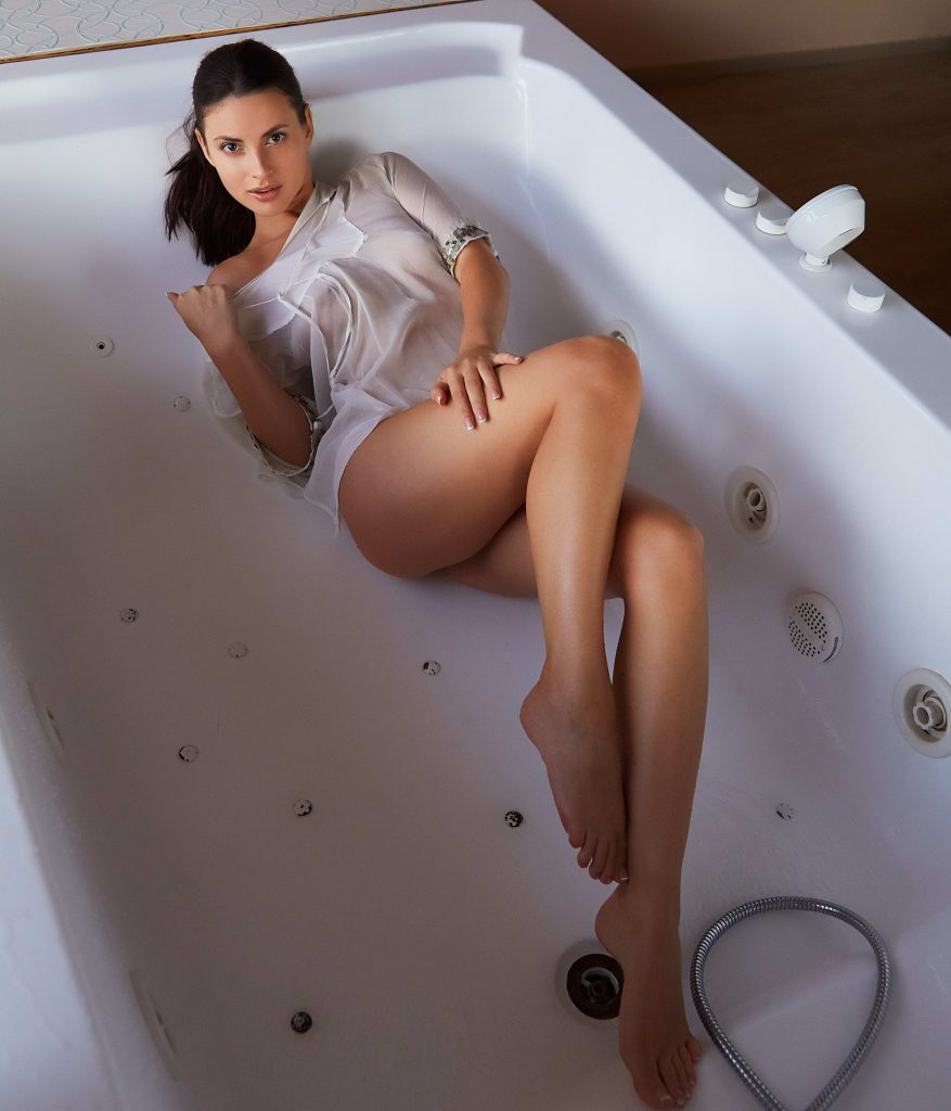 Amazing Brunette in A Bathtube